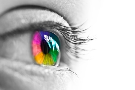 Eyeball with Rainbow Retina